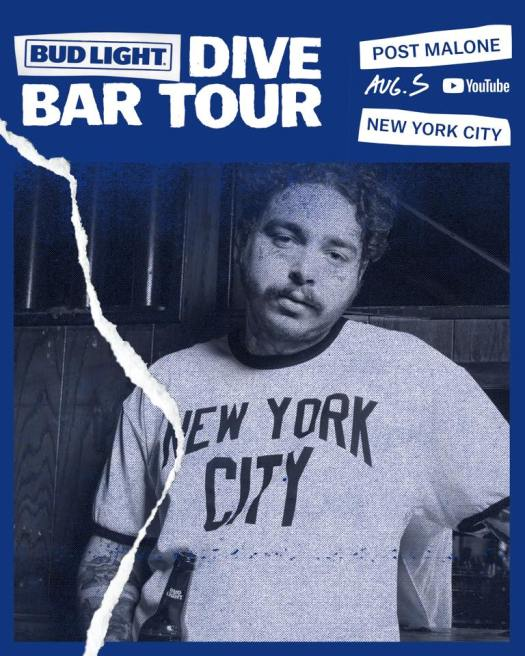 bud light dive bar post malone