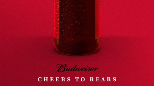 budweiser cheers to rears