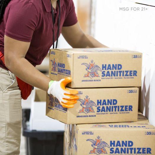 ab inbev hand sanitizer